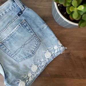 Lucky Brand Embroidered Cut Off Short